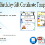 Birthday Gift Certificate Template [7+ Funny Designs]