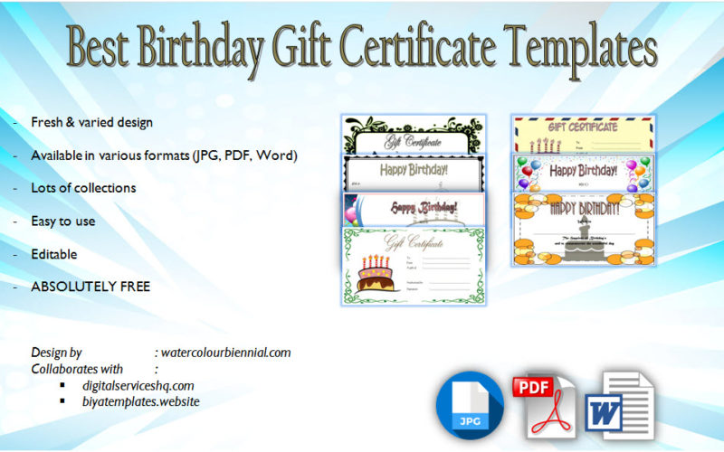Birthday Gift Certificate Template 7 Funny Designs