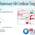 Anniversary Gift Certificate Template [10+ Romantic Designs]