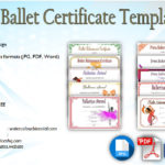 Ballet Certificate Templates [10+ FANCY DESIGNS]