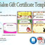 Salon Gift Certificate Template [10+ Beautiful Designs]