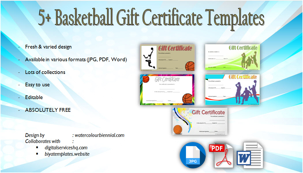 basketball gift certificate templates pdf, sports, editable, printable, customizable, basketball tournament certificate ideas, youth basketball certificates free download