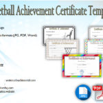 Netball Achievement Certificate Editable Templates