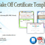 Bake Off Certificate Templates