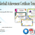 7 Basketball Achievement Certificate Editable Templates