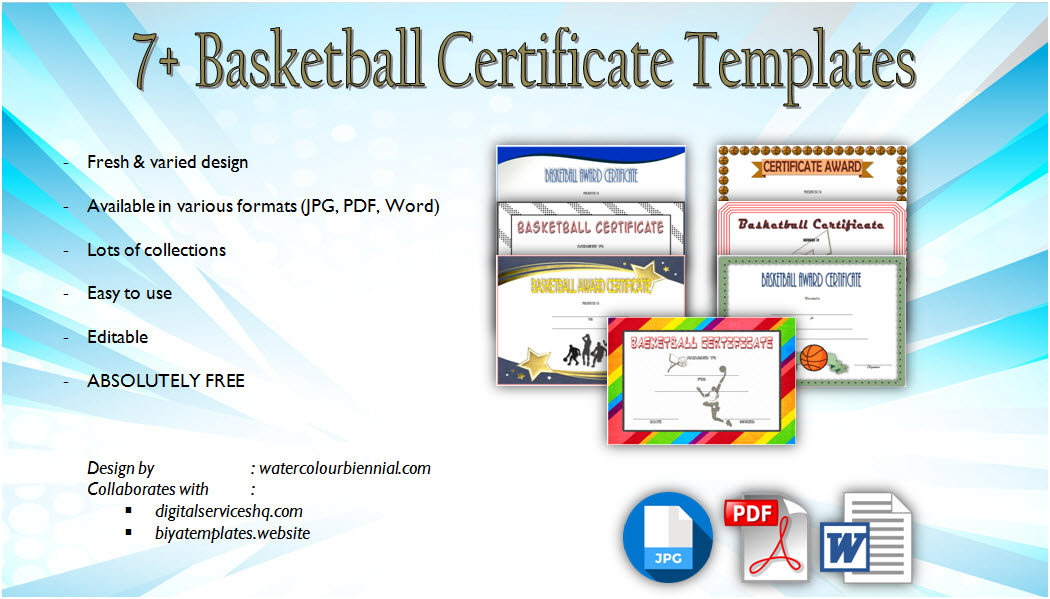 Download Basketball Certificate Templates pdf, word, coach, award, participation, free customizable certificates, youth, mvp, printable, awards