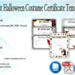 Halloween Costume Certificate Template [7+ Best Designs]