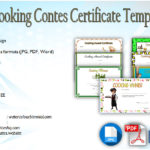 Cooking Contest Winner Certificate Templates Free