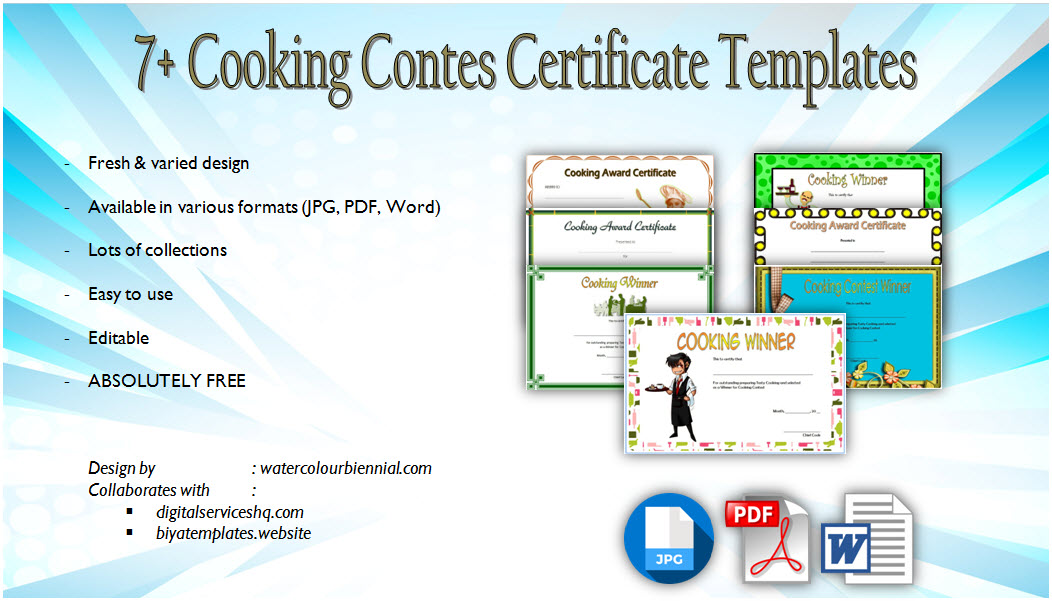 Download 7 Cooking Contest Winner Certificate Templates Free