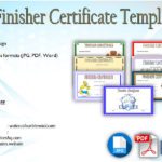 Finisher Certificate Templates Free: 7+ BEST Choices in 2019