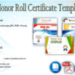Certificate of Honor Roll FREE Templates [2019 Best Designs]