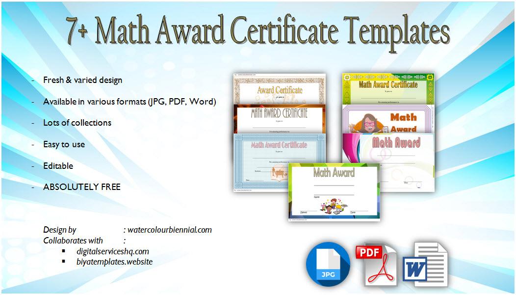 Download 7 Math Award Certificate Templates Free