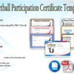 Netball Participation Certificate Editable Templates