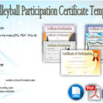 Volleyball Participation Certificate Templates