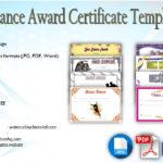 Download 8+ Dance Award Certificate Templates [VARIOUS DESIGNS]