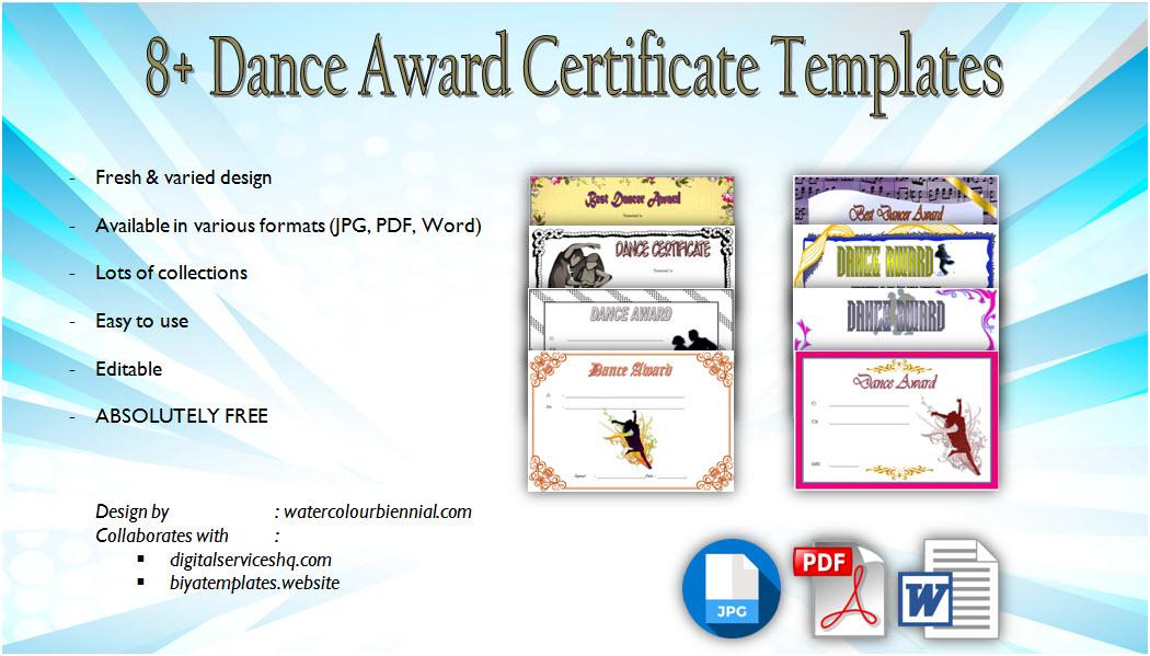 Get the best Dance Award Certificate Templates, team, achievement, pdf certificates, word, printable, hip hop, ballet, template free download!