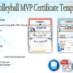 Volleyball MVP Certificate Templates