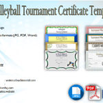 Download 8+ Volleyball Tournament Certificate Templates