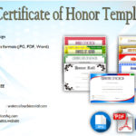 Honor Award Certificate Templates [9+ Official Designs FREE]