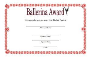 Download the best Ballet Certificate Templates, dance achievement award, template for word, pdf, ballerina, gift, to print, printable dance certificates, participation free!