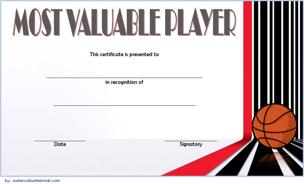 download 10  basketball mvp certificate editable templates