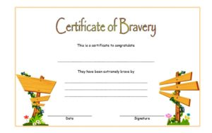 10 bravery award certificate templates with funny design