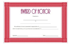 Download the best Honor Award Certificate Template, honour, recognition for students, appreciation for employees, achievement, recognition, honor roll, pdf, microsoft word templates free!