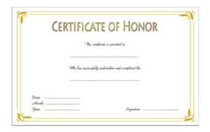 Download the best Honor Award Certificate Template, honour, recognition for students, appreciation for employees, achievement, honor roll, pdf, microsoft word templates free!