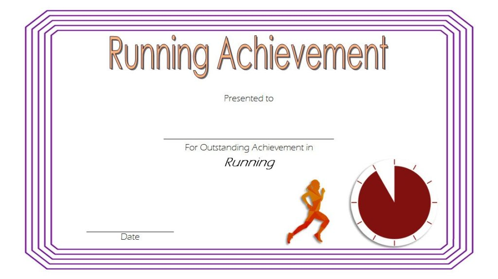 certificate running templates template competitions formats complement provide microsoft awards word pdf
