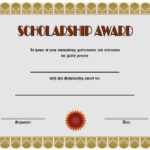10+ Scholarship Award Certificate Editable Templates