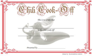 Download the best Chili Cook Off Certificate Template, contest winner certificates, first place, competition award templates, cook off, participation, funny, bbq, pdf, word, printable free!
