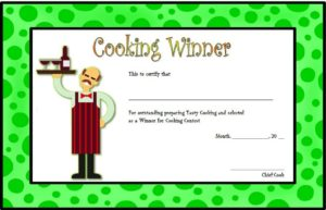Download Cooking Contest Certificate Templates, award template, printable, professional certificates, participation, competition, cooking class, editable, word, pdf free!