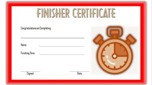 Download Finisher Certificate Template, marathon, printable, completion, running award, participation, fun run templates editable, pdf, word for free!