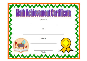 Download math achievement certificate template, mathematics excellence award, pdf, doc, printable, editable maths certificates templates for free