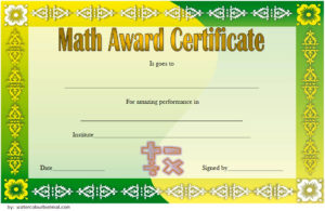 Download the 7 best Math Certificate Template, mathematics certificates, maths excellence, achievement award certificate design for free!