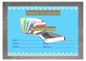 Download the best reader award certificate template, printable reading certificates, achievement, super, awards for students, star, accelerated, word, pdf for free!