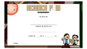 science fair certificate template, achievement award, participation certificates, templates for word, editable, pdf, 1st place winner, exhibition, robotics free download