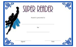 Download Super Reader Award Certificate, summer reading, accelerated, certificates template, printable, star student, achievement awards for students free!