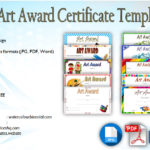 Free Art Award Certificate Templates Editable