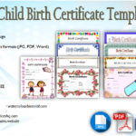 Fillable Birth Certificate Template [10+ Cute Designs]