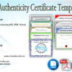 Certificate of Authenticity Templates Free