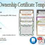 Ownership Certificate Templates Editable