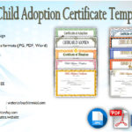 Child Adoption Certificate Template Editable