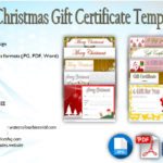 10+ Christmas Gift Templates Free Typable (2021 New Designs)