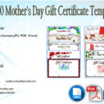 10+ Mother's Day Gift Certificate Templates
