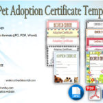 Pet Adoption Certificate Editable Templates