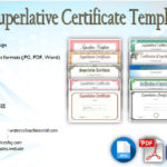 Superlative Certificate Templates Free [10+ GREAT Designs]