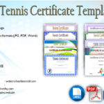 Editable Tennis Certificates