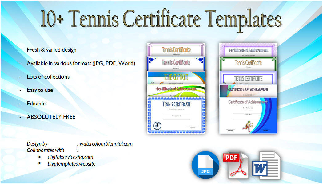 badminton achievement certificate templates  7  greatest