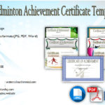 Badminton Achievement Certificate Templates